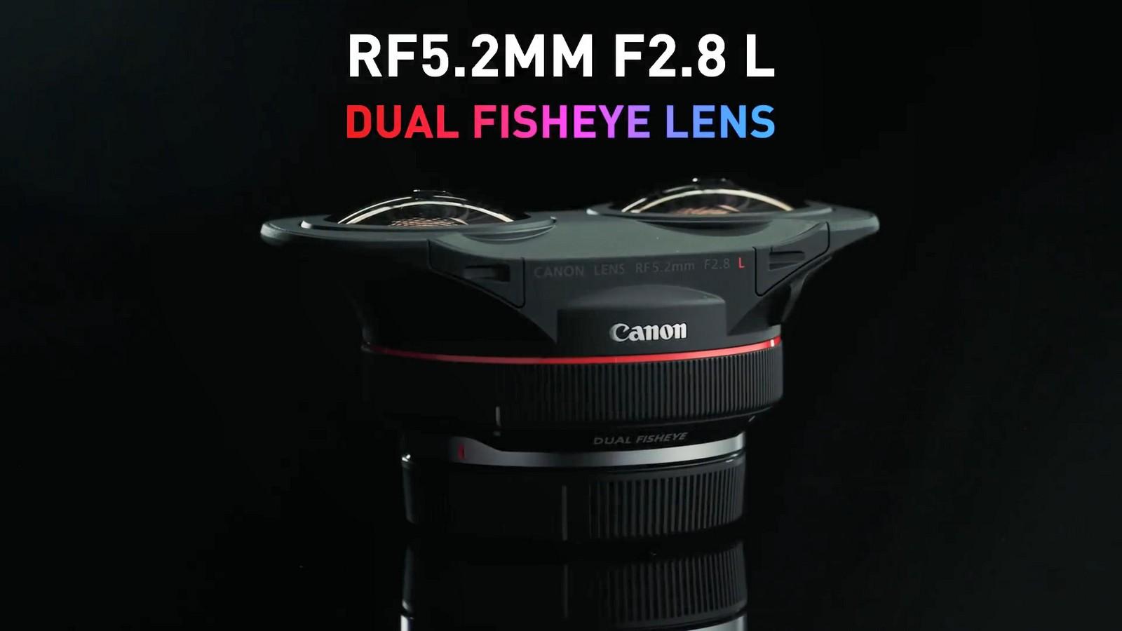 Objektiv Canon duální rybí oko 5,2 mm f/2,8. Foto 1