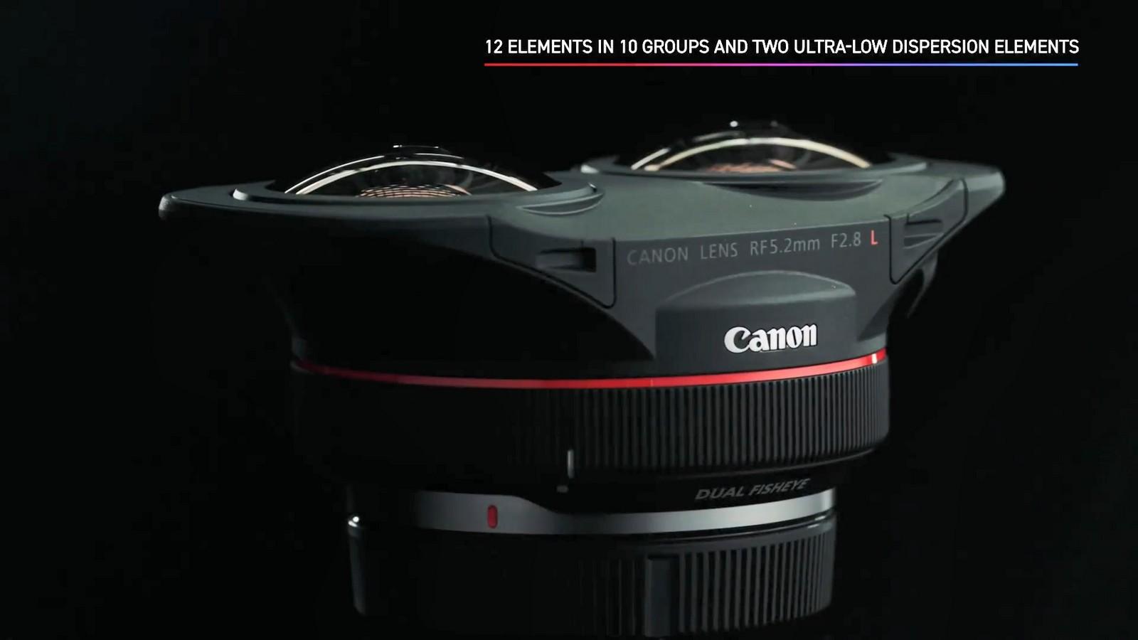 Objektiv Canon duální rybí oko 5,2 mm f/2,8. Foto 6
